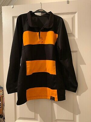 Girls Rugby Style Sport Top By Falcon Black & Gold Size 34/36