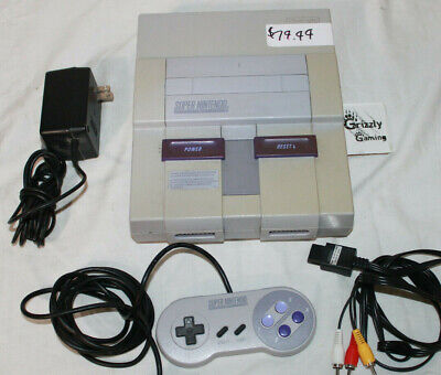 USED SNES Super Nintendo Entertainment System SNS-001 Console + Gamepad & Cords