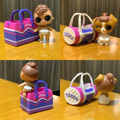 Lot 2Pcs Lol surprise dolls CHEER.Family Lil Sister & pet. 3 toy for girl gift