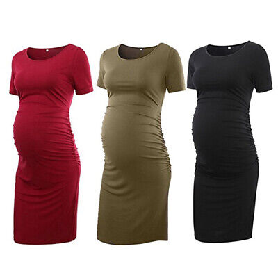 New Womens Mother Casual Floral Falbala Pregnant Dress For Maternity Clothes UK