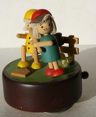 Baseball Dan's Kids Wooden Rotating Music Box Take Me Out to The Ball Game-Works
