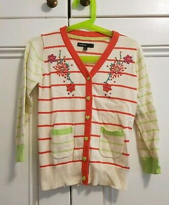 BNWOT Girl's Cotton Cardigan Size 3-4 Years Marks and Spencer Autograph Stunning