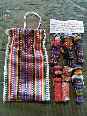 Worry Dolls - 6 Worry Dolls In A Textile Bag