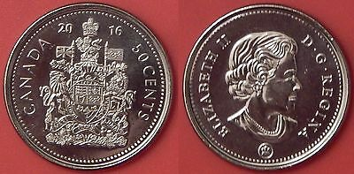 Brilliant Uncirculated 2016 Canada 50 Cents From Mint's Roll