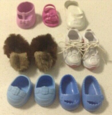 Dolls Shoes Bulk Lot 4 Pairs & 3 Odd Shoes - See Photos