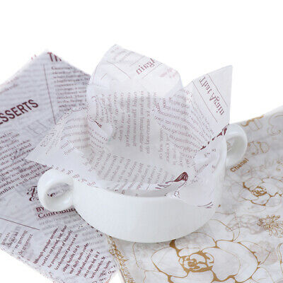 50Pcs/Lot Wax Paper Food Grade Grease Papers Wrapper Wrapping For BreadOilpaperK