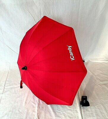 icandy Peach parasol Red With Icandy Clip/Clamp
