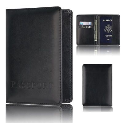 Travel PU Leather Passport Holder Credit ID Card Case Cover Organizer Protector