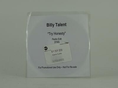 BILLY TALENT, TRY HONESTY, 354, EX/VG, 1 Track, Promo CD Single, White Sleeve, A