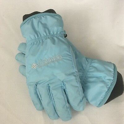 Women's Columbia Ski Gloves Winter Warm thick Insulated Light blue Medium