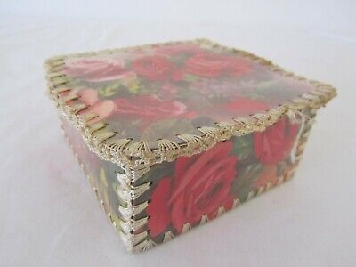 Vintage Handmade Roses Card Craft Box
