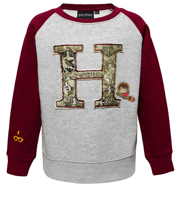 Kids Unisex Boys Girls Licensed Hogwarts™ Raglan Applique Sweatshirt