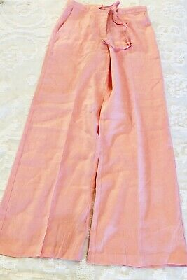 Lilly Pulitzer Wide Leg Cool Linen Drawstring Pants Size 2