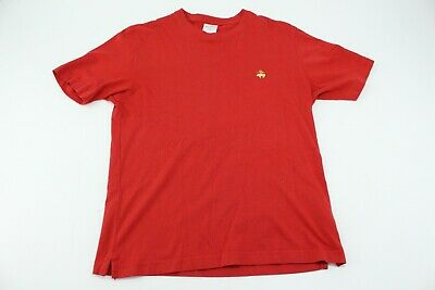 Brooks Brothers Solid T Shirt Crew Neck Tee 100% Cotton S Red