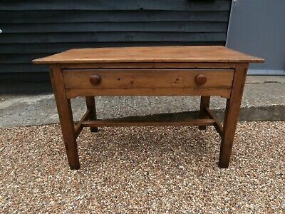 CHARACTERFUL 19th CENTURY PINE PREPERATION TABLE KITCHEN DINING ANTIQUE