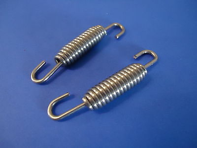 2x Stainless Steel Exhaust Springs 75mm / Expansion Chambers Manifold Link pipe