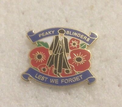 Rare Peaky Blinders Enamel Pin Badge - Thomas Shelby Patriotic Design Birmingham