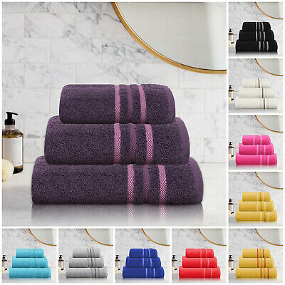 Luxury Super Soft Egyptian Cotton Bathroom Towels Face Hand Bath Towel & Sheets