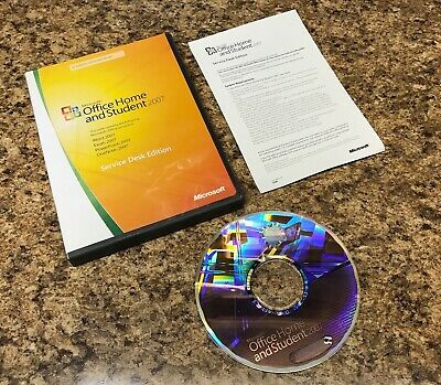 Microsoft Office Home and Student 2007- Service Desk Edition w/Disc,Booklet,Key