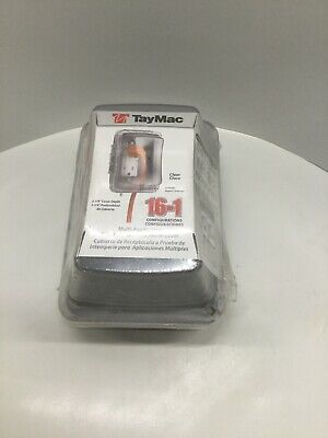 Taymac Weatherproof Receptacle Cover .Clear Cover