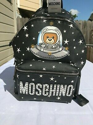 Spectacular Deals on Teddy Logo Backpack White Moschino