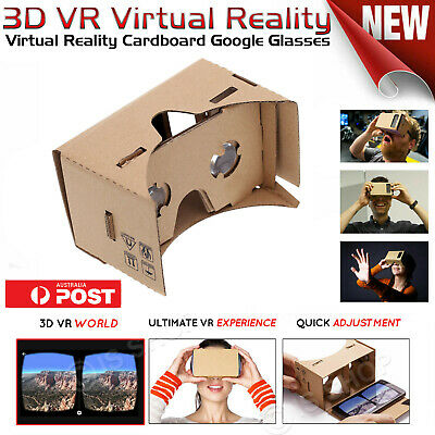 3D VR Virtual Reality Cardboard Google Glasses for iPhone X XR 8 Galaxy S5 S6 S7