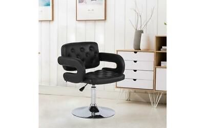Beauty Salon Swivel Chair Black Hairdressing Barbers Hydraulic Height Lift