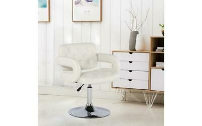 Beauty Salon Barbers Swivel Chair White Hairdressing Height Hydraulic Lift