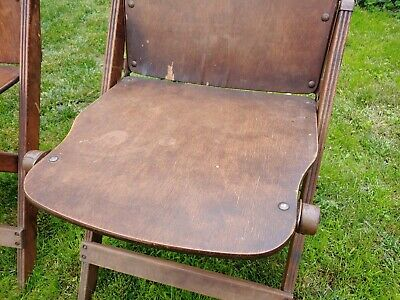 Antique Storkline Furn Corp 1920-30's Wooden Folding Chair