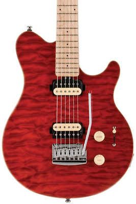 Sterling by Music Man SUB AX3 Axis Electric Guitar Trans red, FREE SHIPPING!