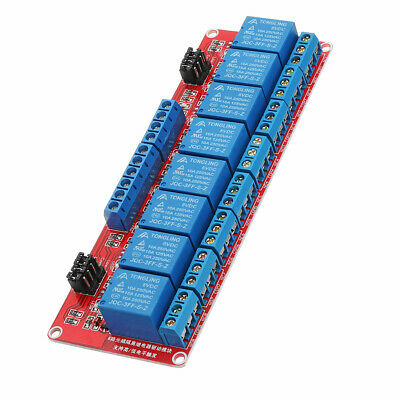 5V 8 Channel Level Trigger Optocoupler Relay Module For Arduino