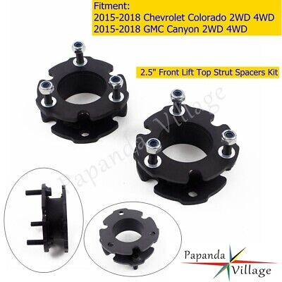 """For 15-17 Chevy Colorado 2.5/"""" Height Front Lift Leveling Steel Strut Spacer Kit"""