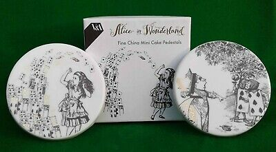 V&A - Alice In Wonderland - Two Mini Cake Pedestals - Boxed.