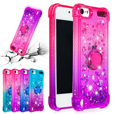 For iPod Touch 6th 7th 5th Gen Case Glitter Quicksand Soft Silicone Thin Cover