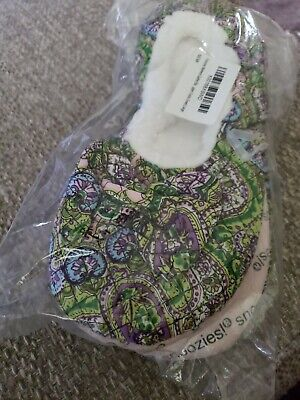 SNOOZIES Women's SLIPPERS BALLERINA SIZE L MULTI COLORS..NEW..FREE SHIP