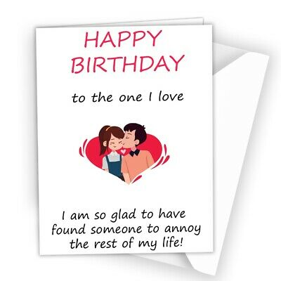 Funny Birthday Card For Him /& Her Perfect For Boyfriend Girlfriend Cute Quirky
