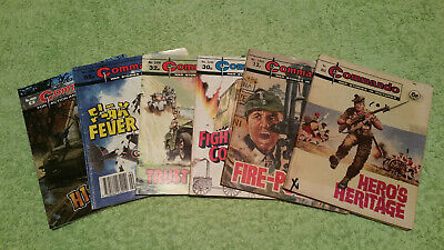 LOT of 6 COMMANDO Comics War Stories in Pictures 865-4693 Action Plus FREE POST