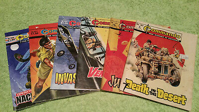 LOT of 6 COMMANDO Comics War Stories in Pictures 962-4599 Action Plus FREE POST