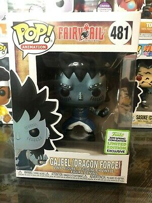 """Funko Pop Animation! """"Fairy Tail"""" Gajeel -Dragon Force- (481) *ECCC Shared Excl*"""