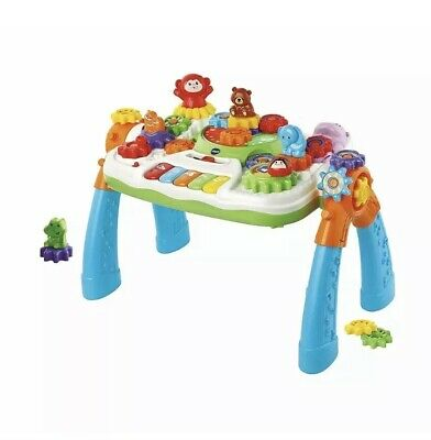 VTech Gear Zoos Gear Up & Go Activity Table Gearzooz Brand New