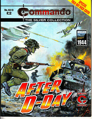 COMMANDO COMIC  War Stories in Pictures #4610 AFTER D-DAY Invasion SILVER