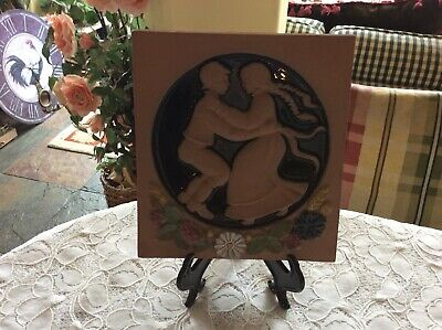 Jie Gantofta Sweden Boy Girl Dancers Solveig #210 Wall Hanging Plaque