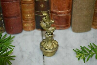 Antique French Gilt Brass Candle Snuffer Extinguisher Finial