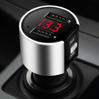 Wireless In-Car Bluetooth FM Transmitter MP3 Radio Adapter Fast USB Charger New