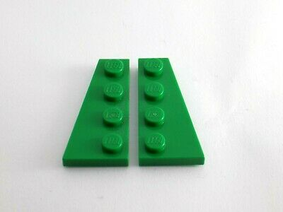 part nos 41769 /& 41770 1x Pair Lego Wing 2 x 4 Right /& Left in Green
