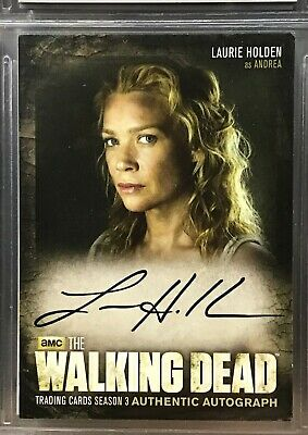 2014 Topps The Walking Dead Season 3 Part 2 Laurie Holden Auto As Andrea