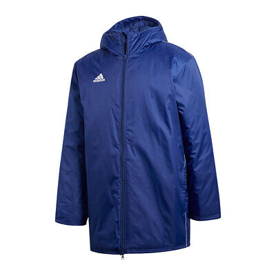 Details about Adidas Core 18 Stadium Jacket (CE9057) Winter Hooded Bench Coat