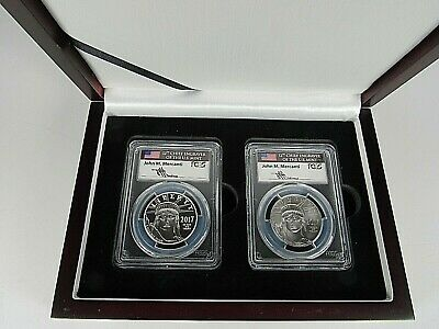 2017 W $100 Platinum Eagle Proof and Mint State PCGS Pf 70Dcam/Ms 70 Mercanti Si
