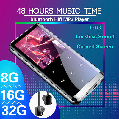 Portable 64G bluetooth MP3 MP4 Music Player HIFI Sport Speakers Video & Earbuds