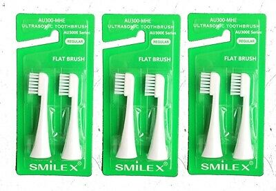 """AU300E-MHE replacement toothbrush """"Regular"""" 3 sets (6 pcs included) FROM JAPAN"""